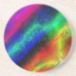 Extracto del Grunge del arco iris Posavasos Manualidades