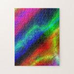 Extracto del Grunge del arco iris Puzzle Con Fotos