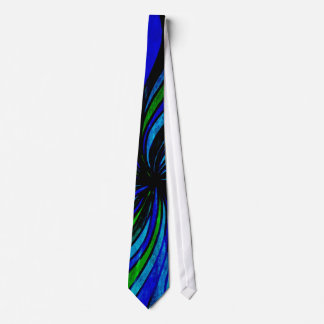 Extracto del Grunge en azul y verde lima Corbata Personalizada