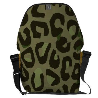 Extracto del guepardo del camuflaje bolsas de mensajería