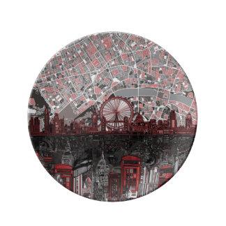 extracto del horizonte de Londres Plato De Cerámica