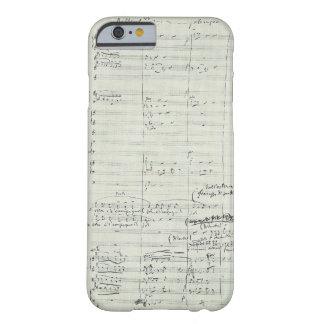 Extracto del manuscrito de la música de Bohème del Funda Para iPhone 6 Barely There
