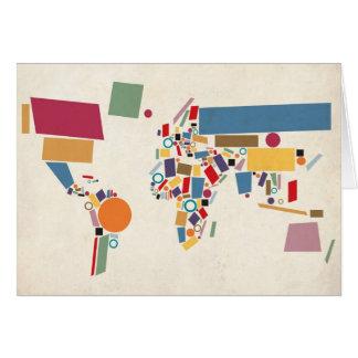 Extracto del mapa del mundo felicitacion