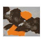Extracto del marrón y del naranja de la lona lona envuelta para galerías