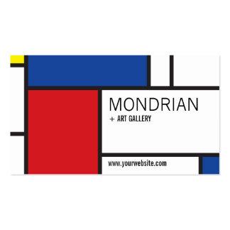 Extracto del Minimalist de Stijl del arte moderno  Plantilla De Tarjeta De Negocio