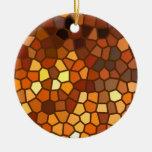 Extracto del mosaico del otoño ornamento para arbol de navidad