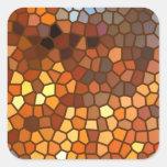 Extracto del mosaico del otoño pegatina