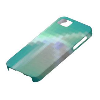 Extracto del mosaico del verde azul de la aguamari iPhone 5 cárcasa
