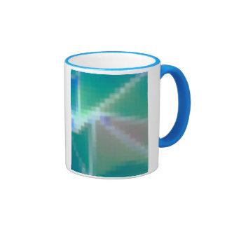 Extracto del mosaico del verde azul de la aguamari tazas