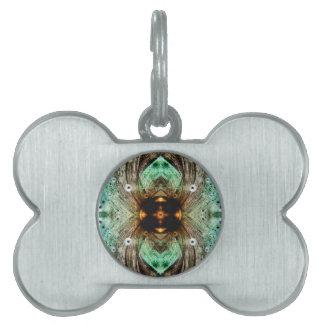 Extracto del ojo del oro del vidrio verde placas de mascota
