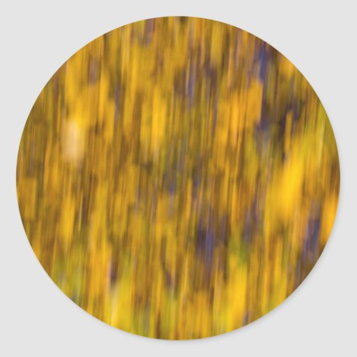 Extracto del oro del otoño pegatina