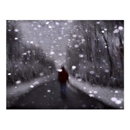 Extracto del paseo del invierno tarjetas postales
