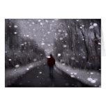 Extracto del paseo del invierno tarjetón