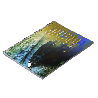 Extracto del puente del rezo de la serenidad cuaderno