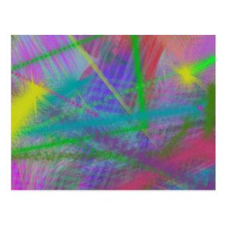 Extracto del rebote del color en colores pastel de postales