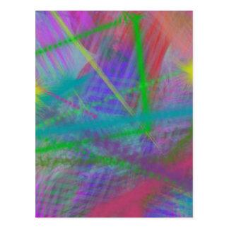 Extracto del rebote del color en colores pastel de postal