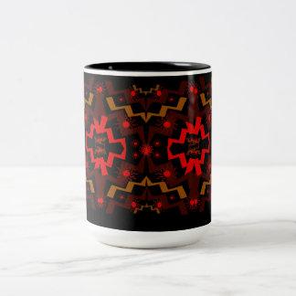 Extracto del relámpago taza de café de dos colores