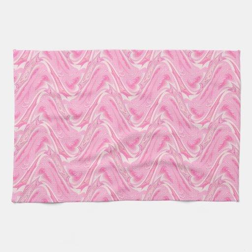 Extracto del rosa del caramelo de algodón toallas de cocina