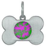 Extracto del rosa del verde del modelo del chapote placa de mascota