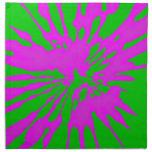 Extracto del rosa del verde del modelo del chapote servilleta de papel