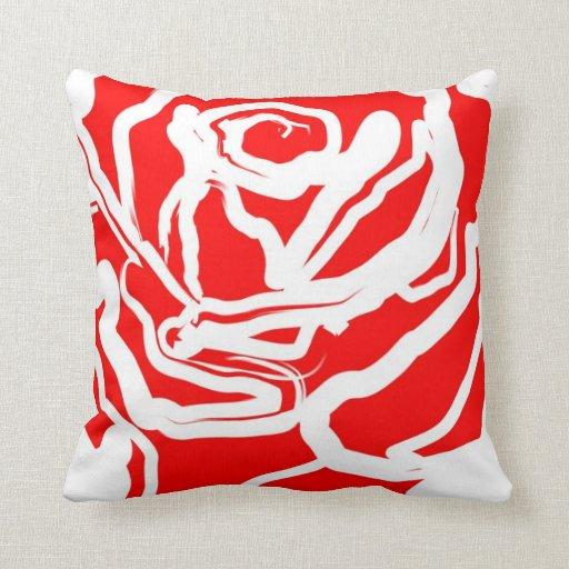 Extracto del rosa rojo cojin