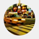 Extracto del taxi de NYC Ornamento Para Arbol De Navidad