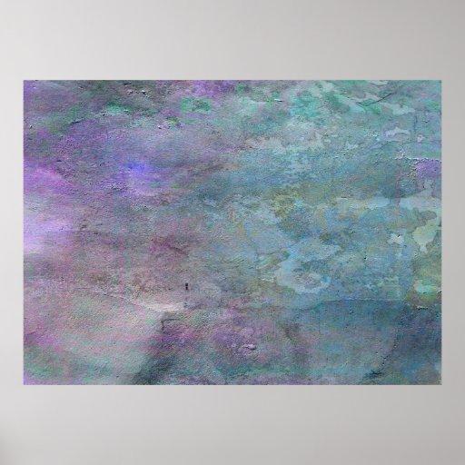 Extracto del trullo y de la lila póster