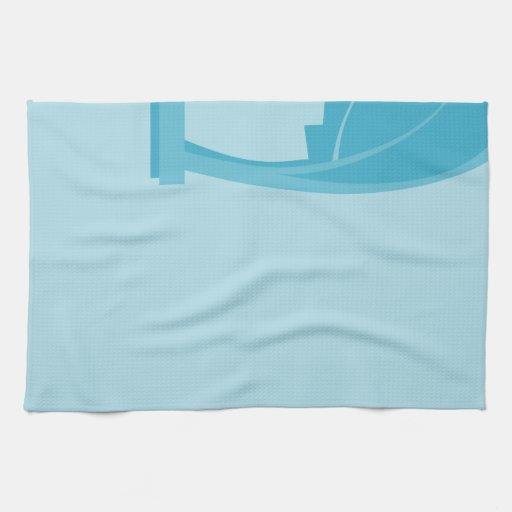 Extracto del trullo y de la turquesa toallas