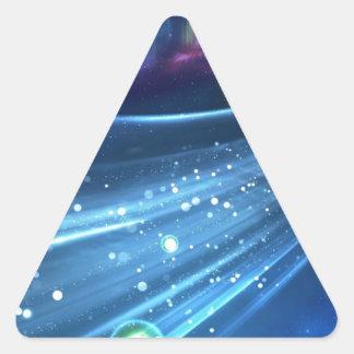 Extracto del universo pegatina triangular