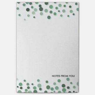 Extracto del verde del modelo de los guijarros de  nota post-it
