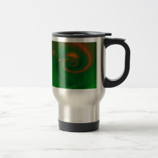 Extracto del verde y del naranja taza de viaje de acero inoxidable
