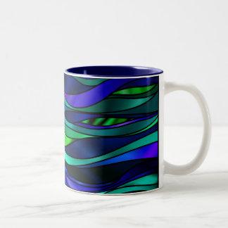 Extracto del vitral taza de dos tonos