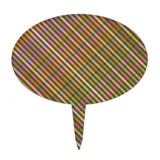 extracto diagonal multicolor decoración de tarta