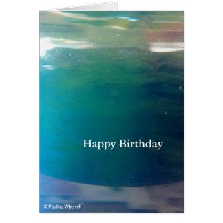Extracto digital de moda elegante del océano del © tarjeta de felicitación