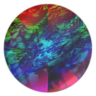Extracto dividido del fractal platos para fiestas