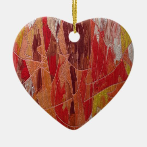 Extracto dorado 01 adorno de cerámica en forma de corazón
