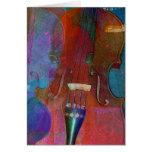 Extracto dos del violín felicitaciones