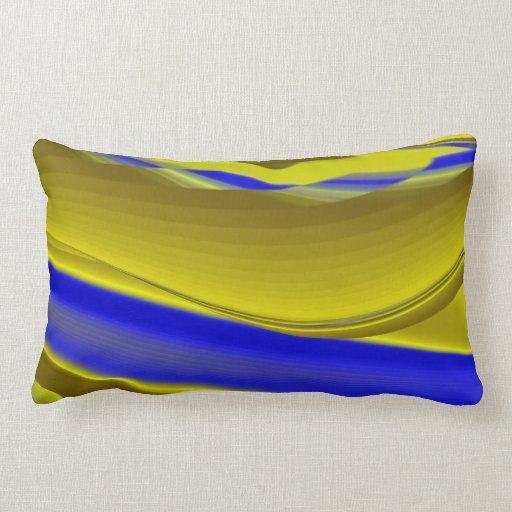Extracto en azul oro-amarillo cojines