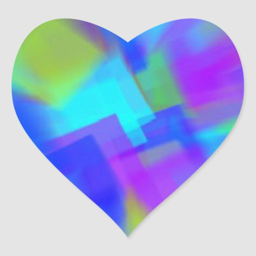Extracto en azul pegatina en forma de corazón