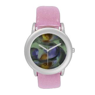 Extracto en colores pastel Circumvoluted Reloj