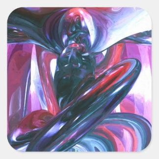Extracto en colores pastel de la alucinación del pegatinas