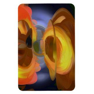 Extracto en colores pastel de la llamarada solar imán de vinilo