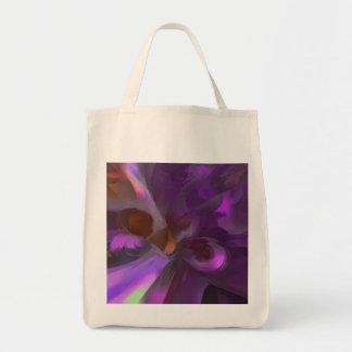 Extracto en colores pastel de la mariposa púrpura bolsa tela para la compra