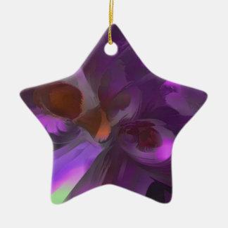 Extracto en colores pastel de la mariposa púrpura ornamentos de reyes