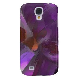 Extracto en colores pastel de la mariposa púrpura funda para galaxy s4