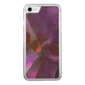 Extracto en colores pastel de la mariposa púrpura funda para iPhone 7