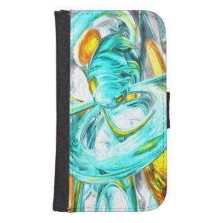 Extracto en colores pastel de la suprema felicidad fundas billetera para teléfono