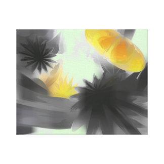 Extracto en colores pastel de las estrellas el cae lienzo envuelto para galerias