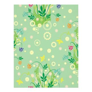 extracto en colores pastel de las flores membrete a diseño