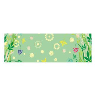 extracto en colores pastel de las flores tarjeta de visita